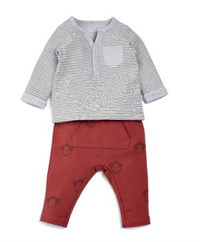 Mamas Papas 2Lİ RUST MONKEY SET
