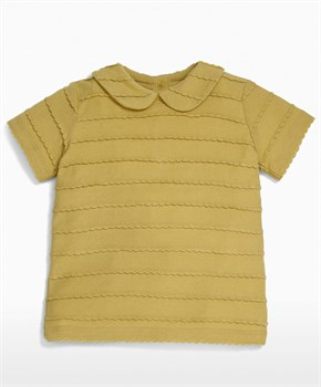 Mamas Papas TRIM COLLAR T-SHIRT MUST