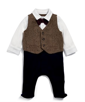 Mamas Papas TWEED MOCK WAISTCOAT ALL IN ONE TULUM