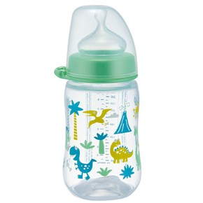 Nip Wide Neck Bottle 260 ml Anti-Kolik Biberon Dino