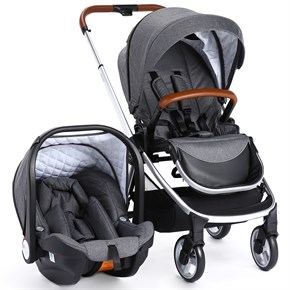 Bagi Easyfold Travel Sistem Bebek Arabası Grey Twill
