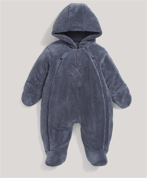 Mamas Papas FUR PRAMSUIT BLUE