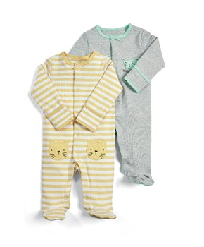 M&P 2Lİ CAT SLEEPSUITS