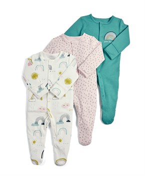 M&P 3 LÜ RAINBOW SLEEPSUITS