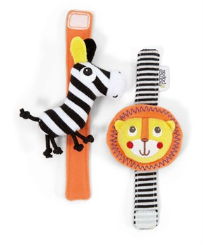 Soft Toy Safari Wrist Rattles